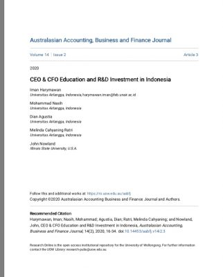 CEO & CFO Education and R&D Investment in Indonesia